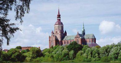 Hansestadt Stralsund feiert das Reformationsjubiläum- Blick auf St.-Marienkriche in Stralsund, Foto: TMV/Neumann